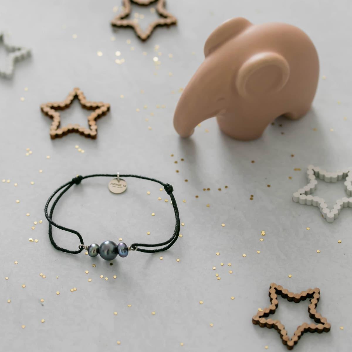 Bracelet Enfant «Perles de culture et pierres naturelles»