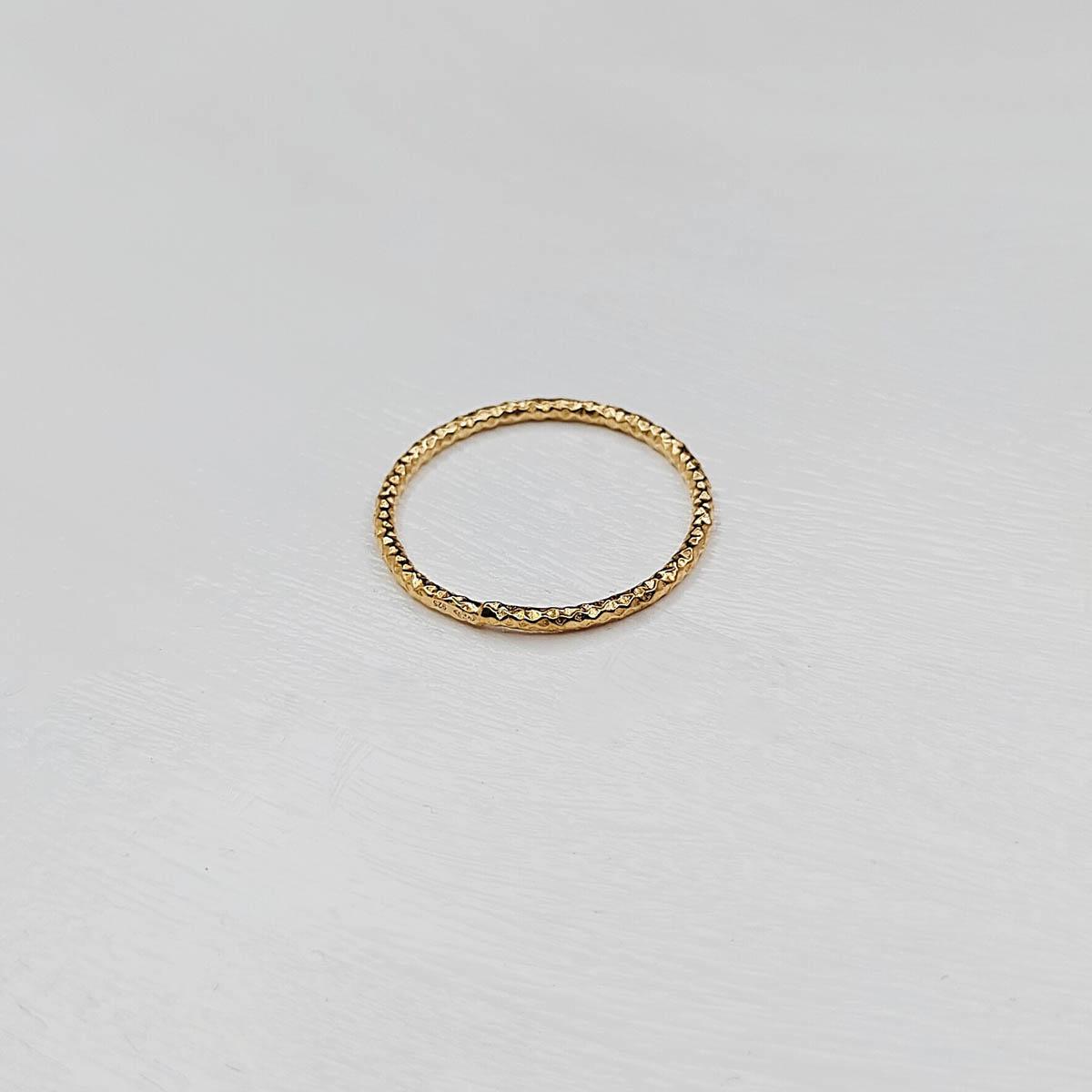 Bague Anneau argent Plaqué or