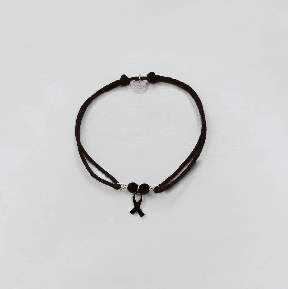 Bracelet solidaire «Ruban Noir»