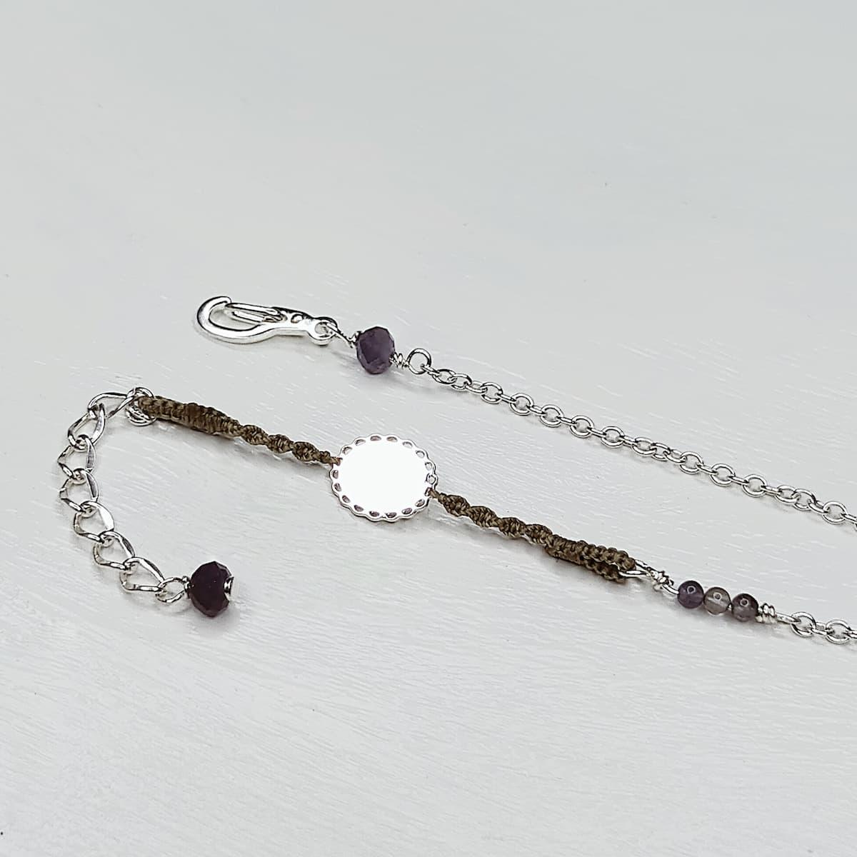 Bracelet «mini-dentelle» ovale