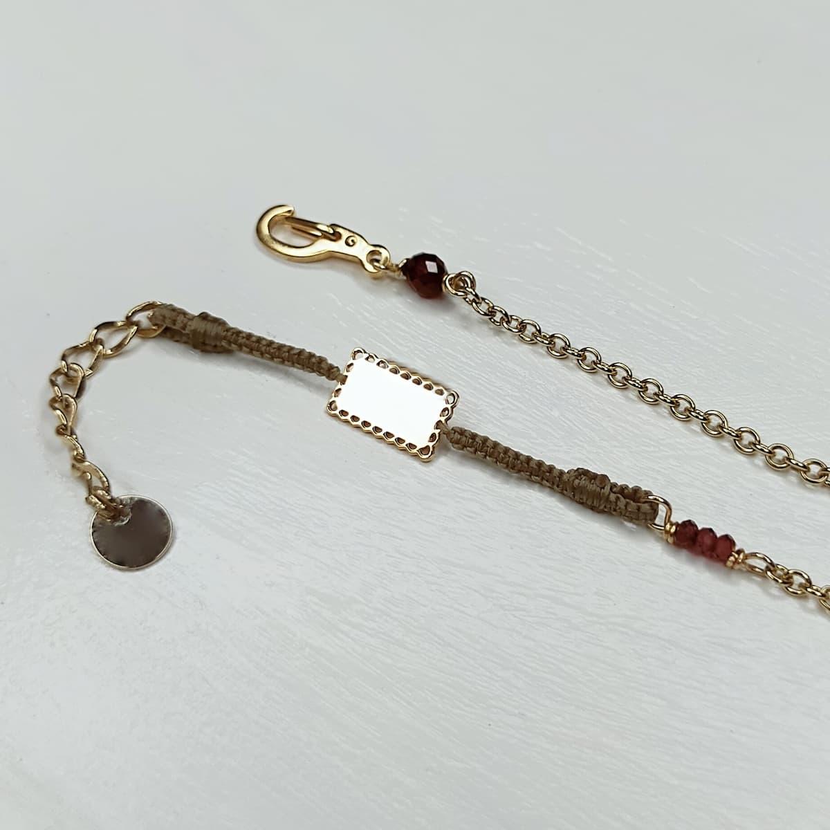 Bracelet «mini-dentelle» plaquée or – rect