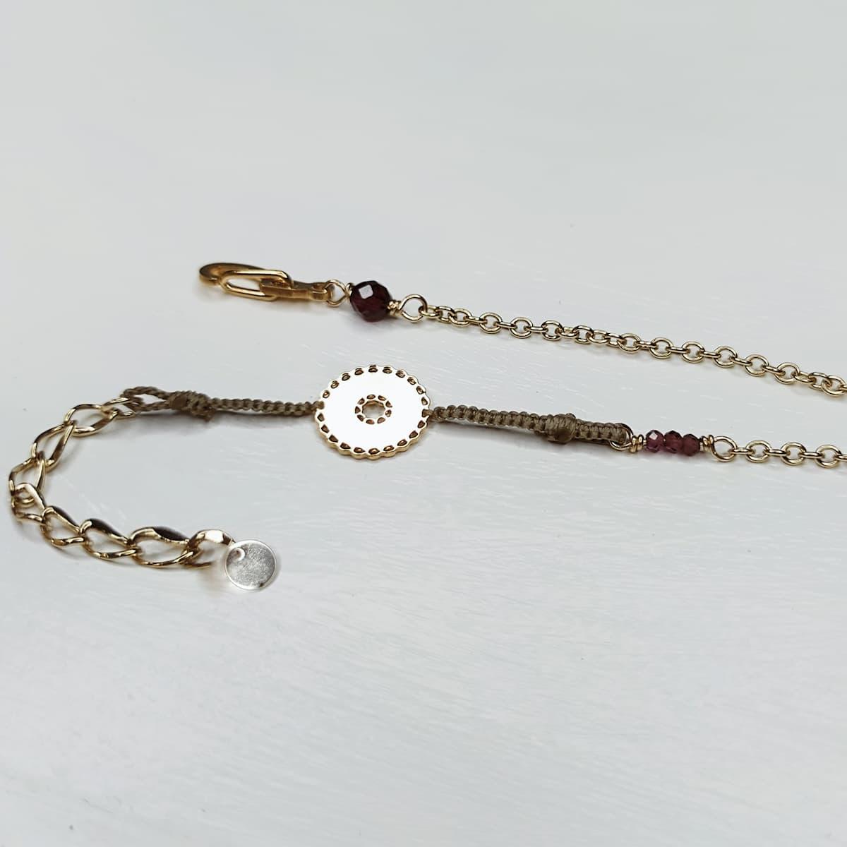 Bracelet «mini-dentelle» plaquée or – ronde